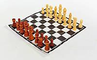 Шахматные фигуры деревянные с полотном для игр
