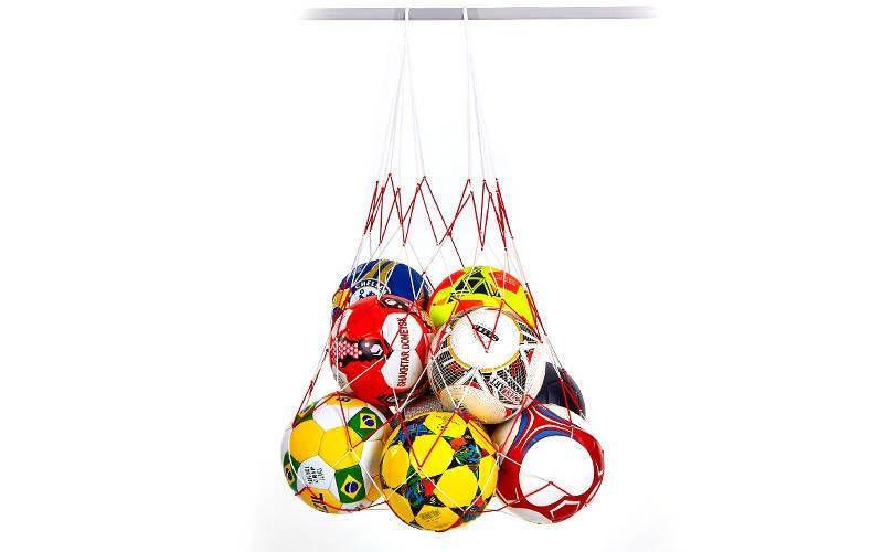 Сетка для мячей  (полипропилен, на 12 мячей, ячейка р-р 11x11см)