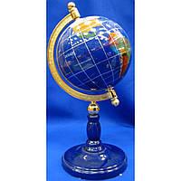 Настольный глобус с перламутром на подставке