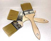 Кисть флейцевая 63/14 нейлоновая с деревянной ручкой