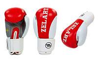 Перчатки боксерские Кожа Zelart(р-р 10oz, красный)