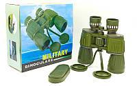Бинокль BUSHNELL 10х50  MILITARY-2 (пластик, стекло, PVC-чехол)