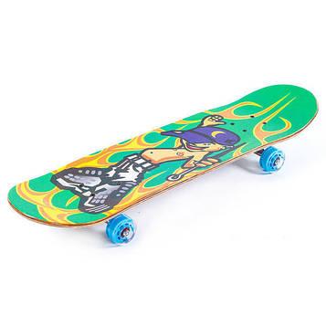 Скейтборд с прозрачными колесами (р-р 20×80 см)