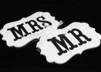 Таблички для фотосессии MR и MRS 25х16 см.