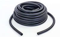 Жгут эластичный трубчатый спортивный (латекс, d-6 x 12мм, l-1000см, черный)
