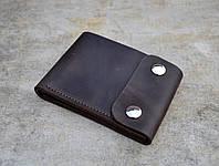 Компактное портмоне с монетницей Coin | Винтажный Кофе, фото 1