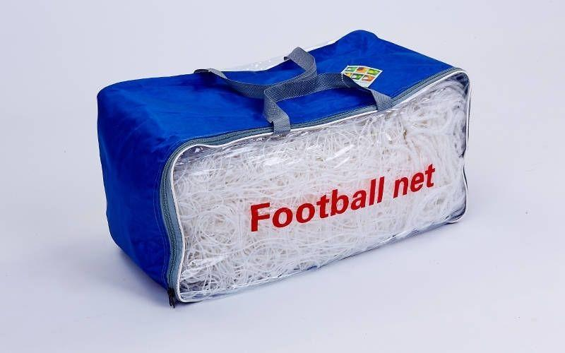 Сітка на ворота футбольні тренувальна вузлова (2шт) (нитка 2,5 мм, осередок 12х12см, р-р 7,4*2,5*2 м)