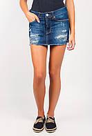 Юбка женская джинсовая с потертостями AG-0003967 Темно-синий