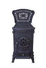 Камин печь буржуйка чугунная Bonro Black двойная стенка 9 кВт, фото 2