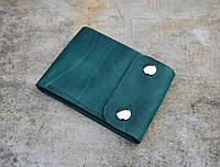 Компактное портмоне с монетницей | Винтажный Изумруд, фото 1