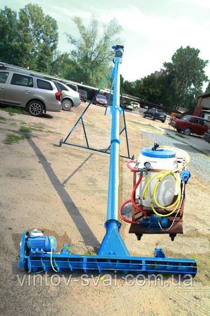 Протруювач насіння з підбирачем шириною 2 м в трубі 108 мм довжиною 3 м