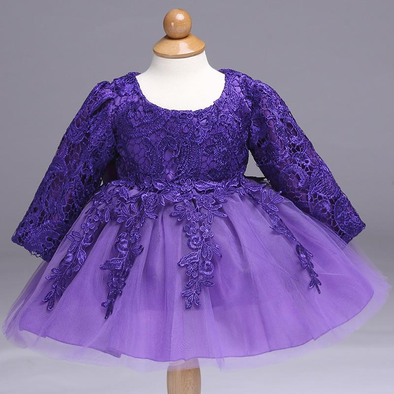 7e29afea1d6dc3b Фиолетовое праздничное платье для малышки - Интернет-магазин