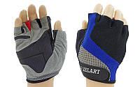 Перчатки для фитнеса женские ZEL (PVC, PL, открытые пальцы р-р XXS-M, черный-серый)