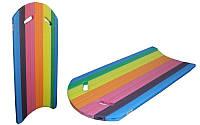 Бодиборд-доска для плавания на волнах EPE разноцветный, р-р 80x44x2,5cм
