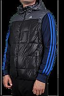 Жилет Adidas черный, темно-серый