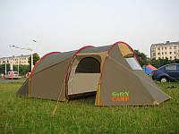 Палатка трехместная с тамбуром Green Camp Х-1017