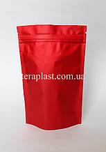 Дой-Пак 150г красный матовый 130х200 с зип замком