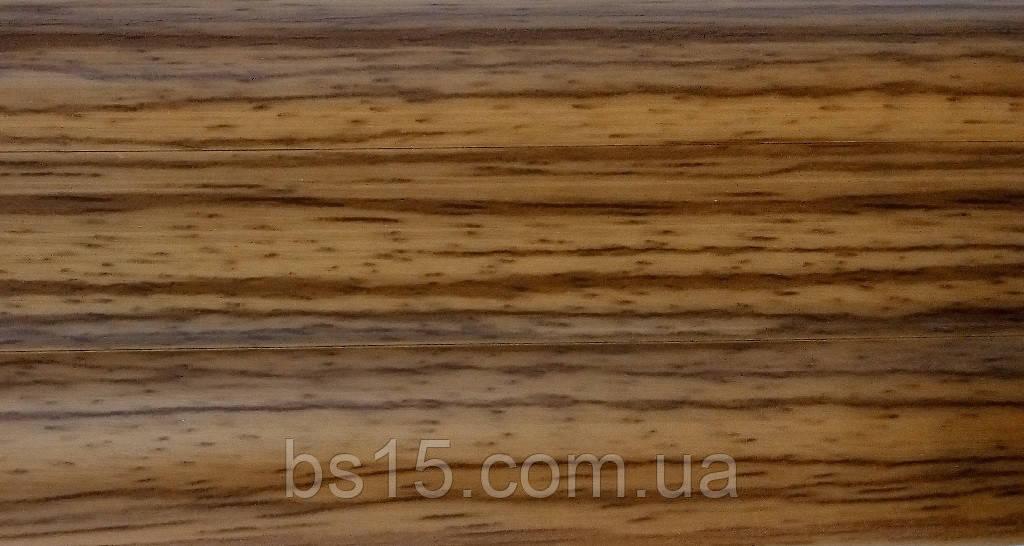 BS27 Орех эксклюзив плинтус с кабель  каналом и комплектующие к нему. , фото 1
