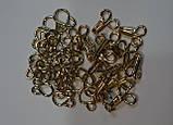 Крючок пришивной, для одежды, золотой, средний, фото 2