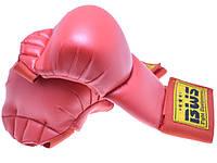 Накладки (перчатки) для каратэ PU World Sport(S-XL,красный)