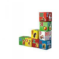 Кубики Укр. Абетка Веселка 1806, обучающие кубики для детей