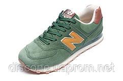 Кроссовки мужские New Balance 574, замша, зеленые, р. 41 42 43 44