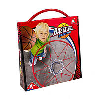 Кольцо баскетбольное детское (в комплекте мяч, насос и сетка)