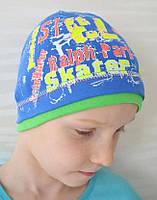 Трикотажная шапочка детская для мальчика горшочек - М1715