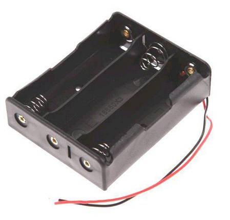 Холдер для трьох акумуляторів 18650 з проводами, фото 2
