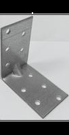 Уголок ассиметричный перфорированный с одним ребром жесткости 120x80x40 MAR 44