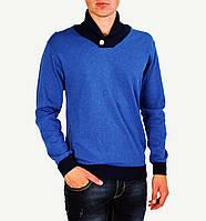 Синий мужской теплый свитер GLANCARLO с горлом, фото 1