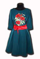 Вышитое выпускное платье