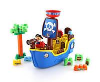 """62246 Набор """"Пиратский корабль"""" + конструктор (30 элементов) (в коробке) ПОЛЕСЬЕ"""