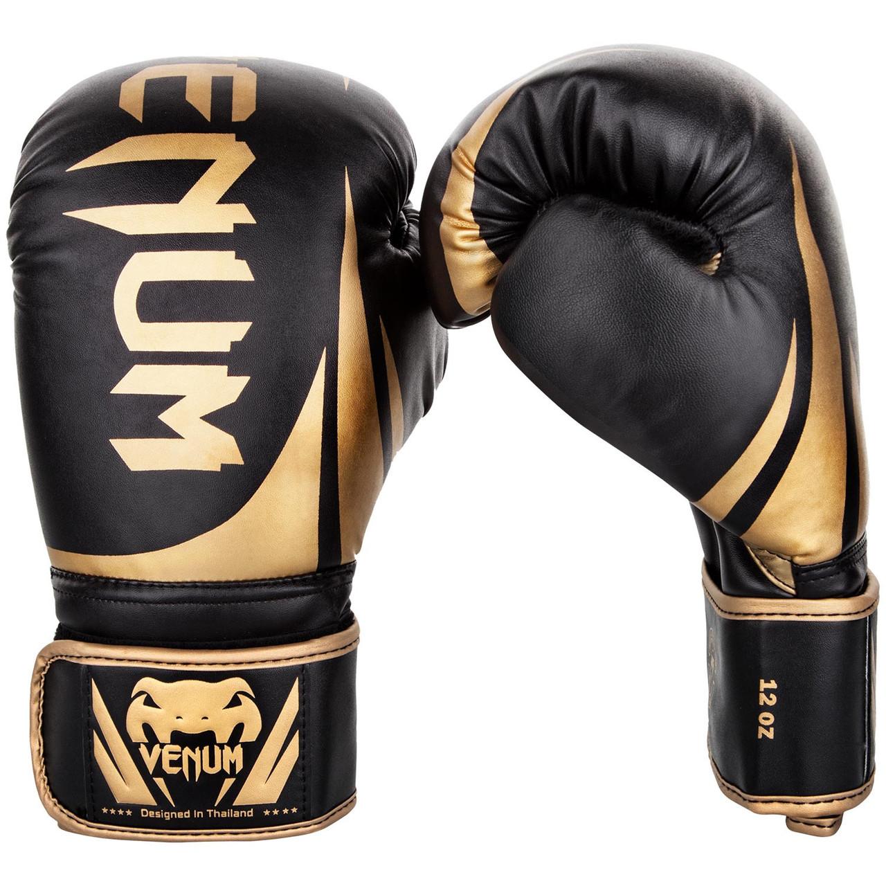 Перчатки боксерские Venum Challenger 2.0 Black/Gold 10oz