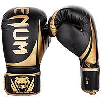 Перчатки боксерские Venum Challenger 2.0 Black/Gold 10oz, фото 1