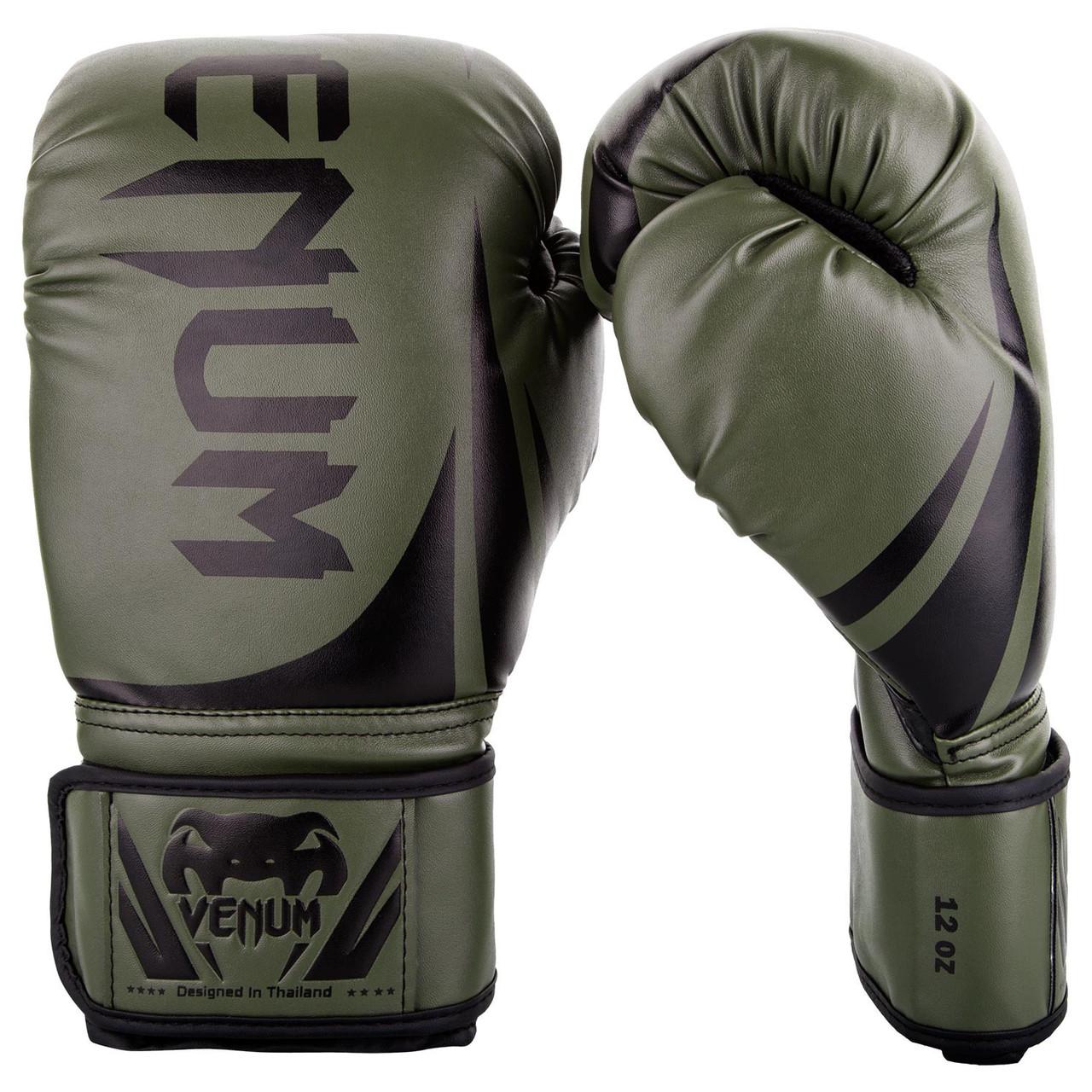 Перчатки боксерские Venum Challenger 2.0 Khaki/Black 10oz