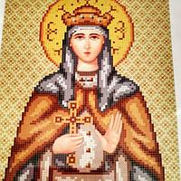 Схема для вышивки бисером Людмила в золоте