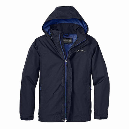Куртка Eddie Bauer Mens Rainfoil DK BLUE, фото 2