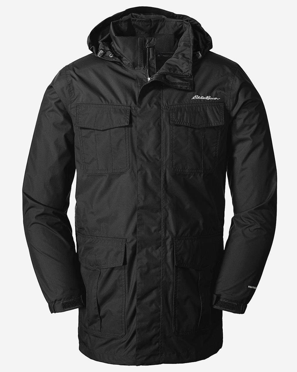 Мембранная куртка мужская Eddie Bauer Mens Rainfoil Parka BLACK