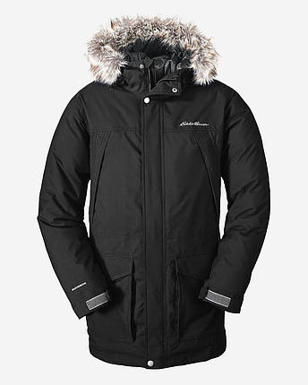 Мужская парка Eddie Bauer Mens Superior Down Parka BLACK, фото 2