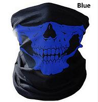 Бафф-маска с рисунком (Череп) Синий