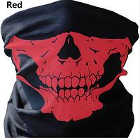 Бафф-маска с рисунком (Череп) Красный