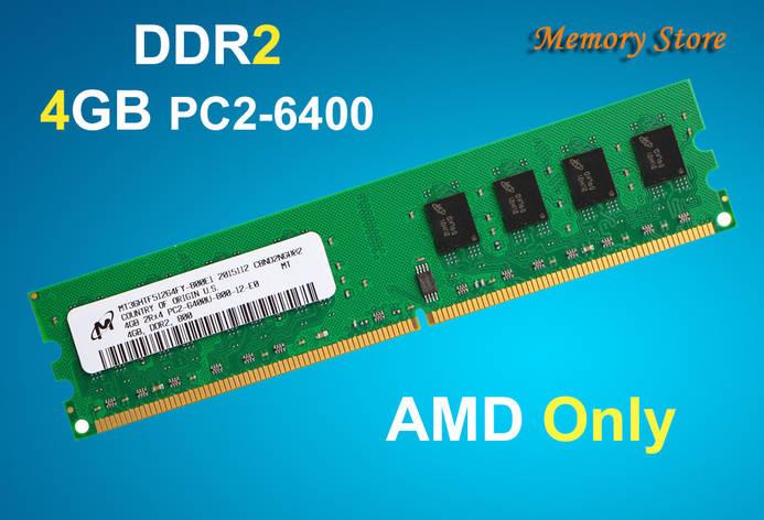 Оперативная память Micron DDR2 4Gb PC2-6400, AMD, фото 2