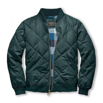 Короткая мужская куртка Eddie Bauer Mens 1936 Modified Skyliner Bomber Jacket Spruse, фото 2