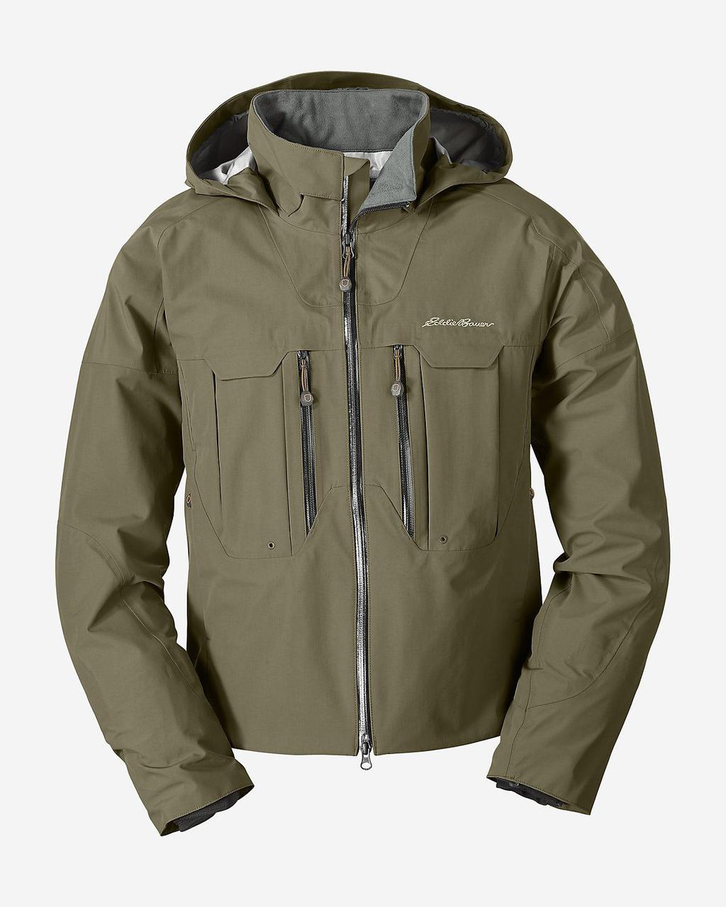 Мембранная куртка мужская  Eddie Bauer Mens Immersion Wading Jacket Guide Green