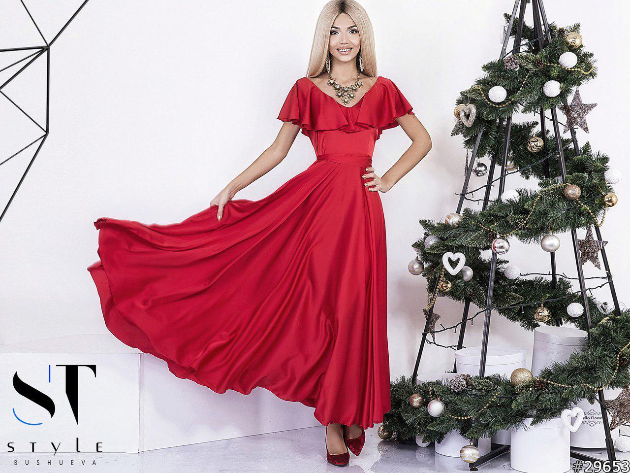 6c9d58240ad Женское платье в пол из шелка