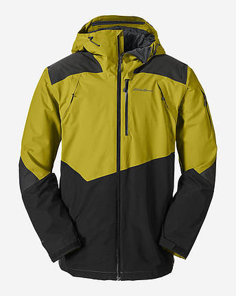Мембранная куртка мужская Eddie Bauer Men Telemetry Freeride REED YELLOW, фото 2