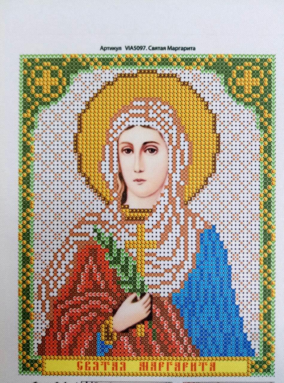 Набор для вышивки бисером икона Святая Маргарита VIA 5097
