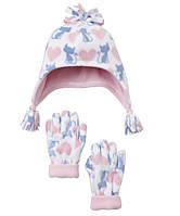 Шапочка и варежки для девочки Mothercare.  1-3 года