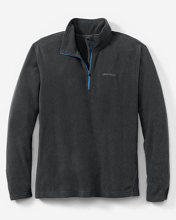 Кофта Eddie Bauer Mens Quest 150 Fleece Pullover BLACK, фото 2